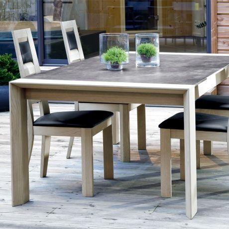 La Nouvelle Table En Ceramique Et Bois Table Salle A Manger Table En Ceramique Et Salle A Manger