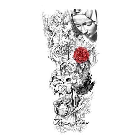 Custom Tattoo Design Tatuagem Religiosa No Braco Tatuagens Cristas Tatuagem Fechamento De Braco
