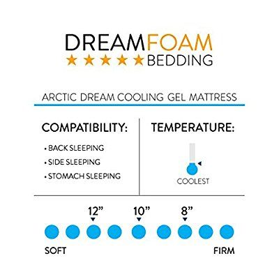 Amazon Com Dreamfoam Bedding Arctic Dreams 12 Quot Cooling Gel Mattress Made In The Usa Short Queen Kitchen Amp Gel Mattress Memory Foam Mattress Mattress