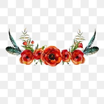 Red Flower Red Flower Crown Red Crown Png Transparent Clipart Image And Psd File For Free Download Stiker