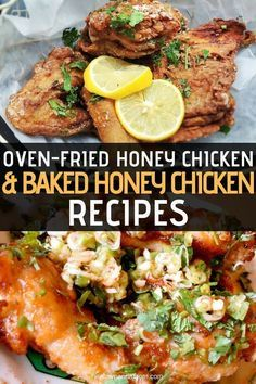 Whether baked or fried this honey chicken recipe is perfect for a weeknight meal or a family gathering. When accompanied with a side dish of creamed corn and honey cornbread this chicken dish makes a down home meal that no one will push aside. #honeychickenrecipes #ovenfriedhoneychicken #bakedhoneychicken #chickenrecipes #healthypandamom  Whether baked or fried this honey chicken recipe is perfect for a weeknight meal or a family gathering. When accompanied with a side dish of creamed corn and h