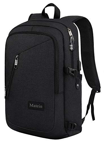 Slim Lightweight Laptop Backpack Anti Theft w//USB Port Rucksack for Work Campus
