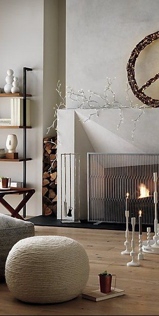 Hang Out By The Fire Handcrafted Of Polished Stainless Steel Refined Tools Hang Out Of The Way For A Clea Trending Decor Home Decor Trends Standing Fireplace