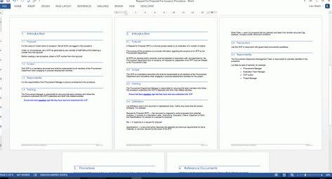 Standard Operating Procedures Templates Ms Word Excel Standard