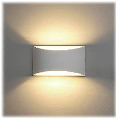 Led Wandleuchte Innen 7w Weiss Gipsleuchte Modernes Design Wandlampe Led Licht Up Und Down Wandlicht Spotlicht Warmweiss Fur Badezi Wall Lights Light Flat Ideas