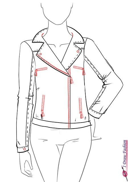How To Draw A Leather Jacket Step By Step Tutorial 9 Illustrations