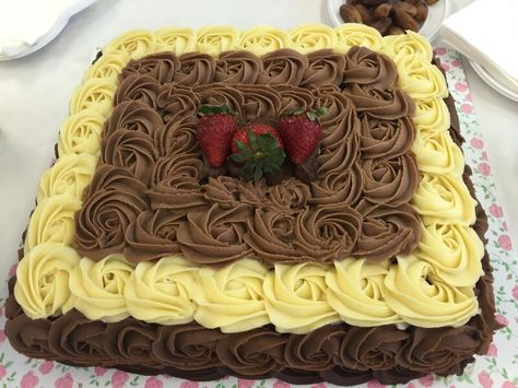 My Ganache Chocolate Mousse Whipped Cream And Strawberry Cake