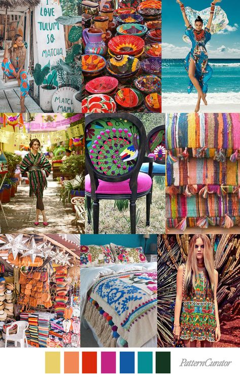 TULUM TEXTILE - color, print & pattern trend inspiration for Spring / Summer 2019 by Pattern Curator. Pattern Curator is a trend service for color, print and pattern inspiration.
