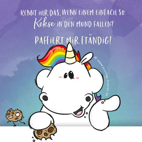 Iff kann da wirkliff nix dafür! 😋 Upf,... ffon wieder paffiert! 🍪  www.pummel-friends.de  #pummeleinhorn #pummelandfriends #pummel #einhorn #unicorn #kekse #cookies #nomnom #essen #food