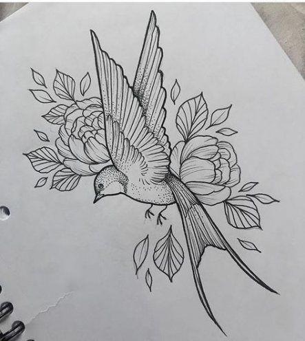 31 Ideas Tattoo Bird Swallow Flower For 2019 Flower Tattoo Drawings Bird And Flower Tattoo Flower Tattoo Sleeve