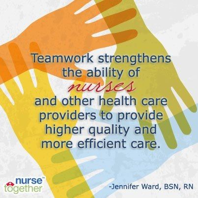 Nursing is all about the Teamwork!