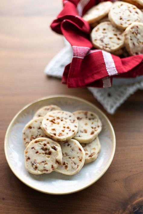 Toffee Bacon Shortbread Cookies | Crumb: A Food Blog