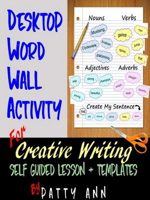 Creative Writing: DESKTOP WORD WALL ACTIVITY -Project Based
