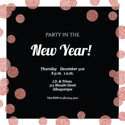 Free Printable New Year S Eve Invitation Templates Greetings Island Newyear Newyeareve N New Years Eve Invitations Free New Year Cards Invitation Template