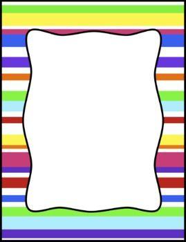 Colorful Stripes Frames Borders Background Clip Art Clip Art Scrapbook Frames Silhouette Clip Art