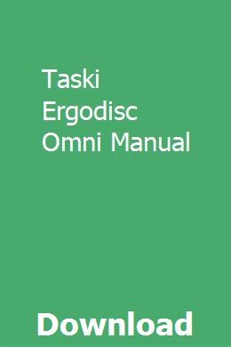 Taski Ergodisc Omni Manual Manual Nissan Sunny Repair Guide