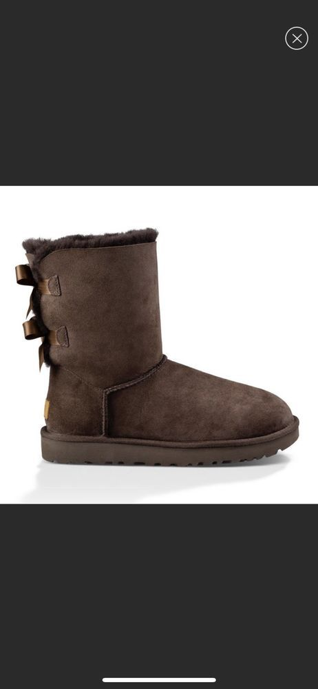 20c5b28e880 UGG Australia 1016225 Women's BROWN Bailey Bow II Short Sheepskin ...