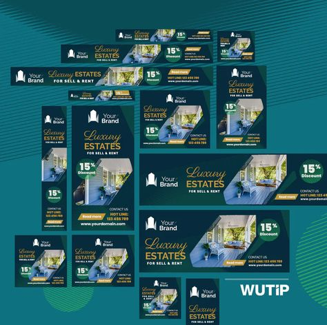 Real Estate Web Ad Banners PSD