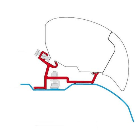 Fiamma 98655 745 F80s Awning Mounting Bracket Dodge Promaster Not Extended Awning Mounting Brackets Roof Rails