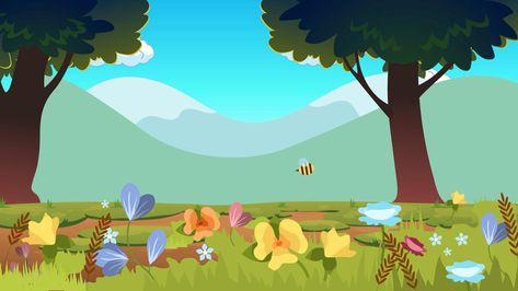 Free Video Background, Cartoon Background, Cartoon Bee, Cartoon Kids, Green Screen Backgrounds, Phone Backgrounds, Free Cartoons, Cool Cartoons, Youtube Design