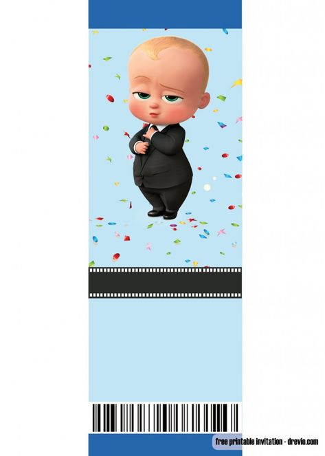 Baby Boss Invitation Template For Your Adorable Little Boss Free