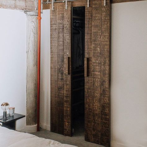 [New] The 72 Best Home Decor Ideas Today (with Pictures) Living Room -  Rustic modern double barn doors for the closet. What a great addition to any home. They looked so nice in this industrial loft space!  . . . #industrialdesign #customdoors #customfurnituredesign #interiordesign #industrial #industrialmodern #barndoor #barndoors #homedecor #closetdoors #furnituredesign #loft #handmade #inspiration #rusticmodern #roughsawn #interiors #homesweethome #instahome #customfurniture #grantpark #atlan