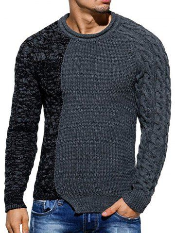 Men Autumn Casual Crew Neck Knitted Slim Long Sleeve Jumper Jersey Tops Sweater