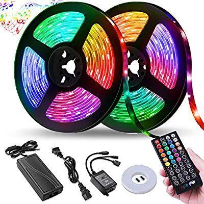 Amazon Com Led Strip Lights Nightscene 32 8ft Led Music Sync Color Changing Lights With 40keys Music R Led Strip Lighting Strip Lighting Color Changing Lights