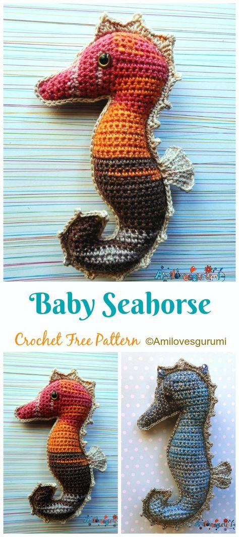 Amigurumi Crochet Sea Creature Animal Toy Free Patterns (With ... | 1064x474
