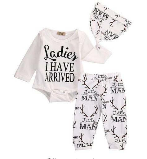 3 Pcs Ladies I Have Arrived Outfit Set
