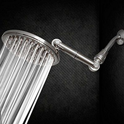 Amazon Com Healthylifestyle Shower Head Rainfall High Pressure 9 5 With Adjustable Extension Arm Rainfall Shower Head Adjustable Shower Head Shower Heads