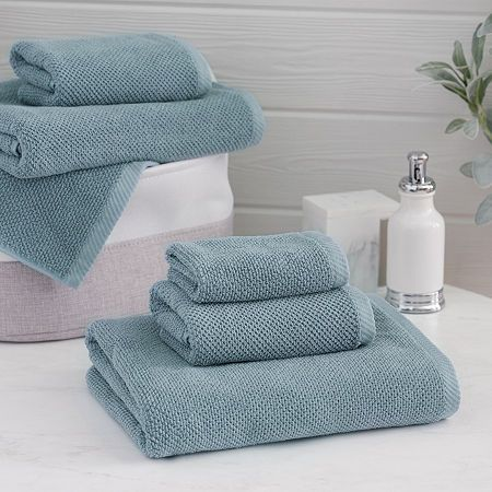Welhome Franklin 6 Pc Bath Towel Set Products In 2019 Towel Hand Towels Cotton Texture