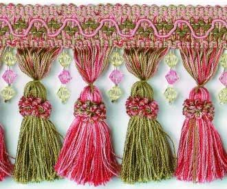 Trim For Wedding Arbor Tassels Fabric Trimmings Pink And Green