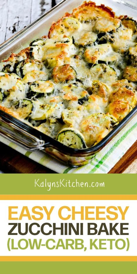 Cheesy Zucchini Bake, Low Carb Zucchini Recipes, Veggie Recipes, Diet Recipes, Vegetarian Recipes, Cooking Recipes, Healthy Recipes, Zucchini Casserole, Recipies