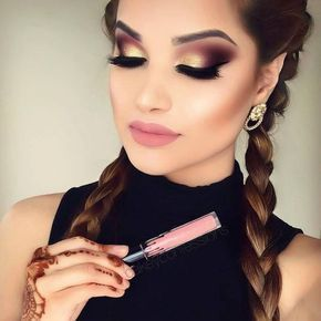 Fall Makeup Looks En 2019 Maquillaje Ojos Dorados