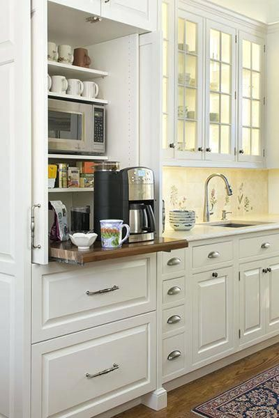 Kitchen Coffee Bar Cabinets Coffee Station Except It Appears The Coffee Maker Is Too Tall To Fit I Diy Kitchen Storage Kitchen Design Kitchen Storage Solutions