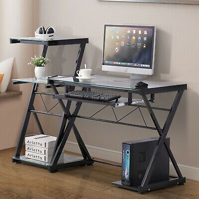 Pc Computer Desk Laptop Table Corner Student Workstation Office
