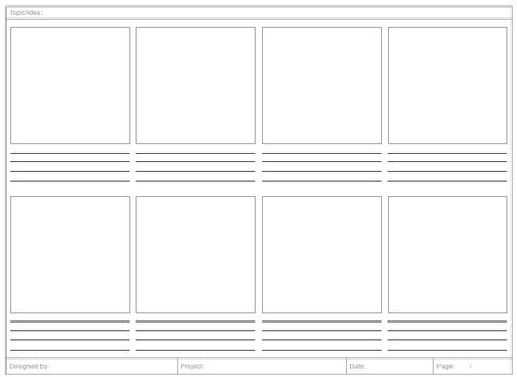 X Storyboard Template  User Experience    Storyboard