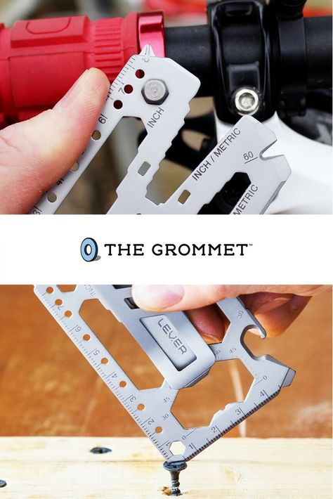 The perfect Father's Day gift for your favorite handyman, this handy wallet tool helps with so many jobs—tightening, cutting, measuring, and opening, to name a few—in a sleek, credit card-sized design. It even has an add-on money clip to do the cash and cards-carrying job, too. It's TSA compliant, Made in the USA with durable stainless steel, and guaranteed to last a lifetime.