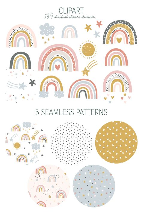 Little Rainbow Clipart Patterns by Dilly Peach Designs on Classroom Themes, Kindergarten Classroom Decor, Classroom Displays, Rainbow Clipart, Rainbow Art, Rainbow Room Kids, Rainbow Birthday, Tile Patterns, Creative
