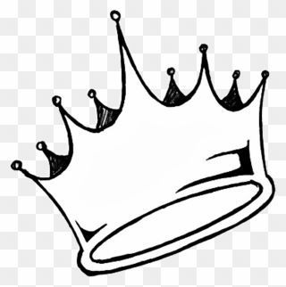 Transparent Crown Tumblr Sticker Aesthetic White Queen King Crown Clipart Black And White Png Download In 2021 Crown Clip Art Crown Tumblr Crown Png