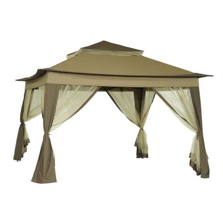 Sunjoy Peter Portable 10 X 10 Gazebo With Mosquito Netting Outdoor Pop Up Gazebo Canopy Tent W Carry Bag Beige Portable Gazebo Gazebo Canopy Patio Canopy