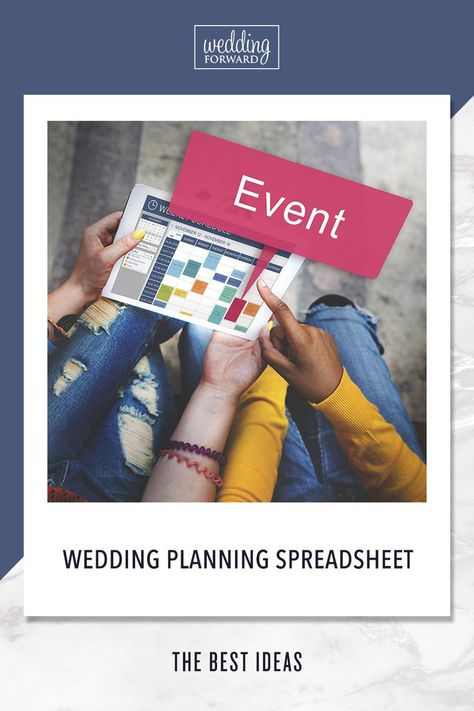 Best Wedding Planning Spreadsheet Ideas ♥ Not sure of how to plan a wedding? Check here for your ideal wedding planning spreadsheet and priority worksheet to make planning a breeze! #wedding #bride #weddingforward #weddingplanningspreadsheet #weddingtips
