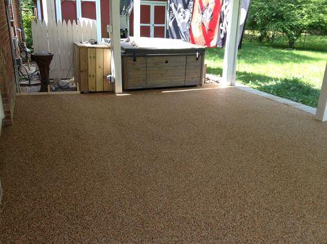 Pebble Stone Epoxy Patio | Epoxy Flooring | Pinterest | Pebble Stone, Epoxy  And Patio