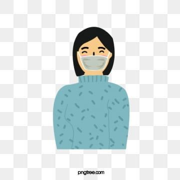 Female Wearing A Face Mask For Epidemic Prevention Work Female Clipart Woman Female Png And Vector With Transparent Background For Free Download Adobe Illustrator Ilustrasi Spanduk