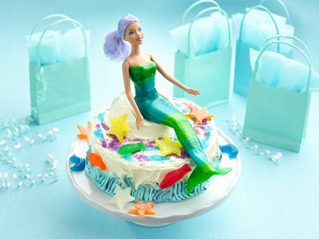 Under the Sea Mermaid Birthday Party  A lovely mermaid and her sea-creature friends