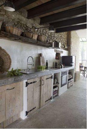 Idee per arredare la cucina in stile rustico - Cucina in muratura ...