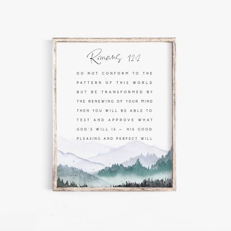 Romans 12:2,Do not conform to the pattern of this world,Romans Wall Art Bible Verse wall art,Baptism