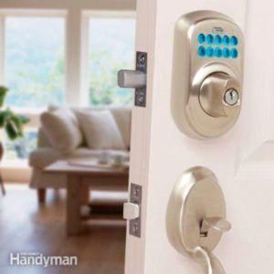 23 Diy Hacks To Burglar Proof Your Home Front Door Locks Home Security Tips Keyless Door Lock