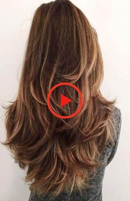 52 Ideas Haircut For Long Hair Round Face Layered Lange Haare Langes Stufiges Haar Haarschnitt Lang
